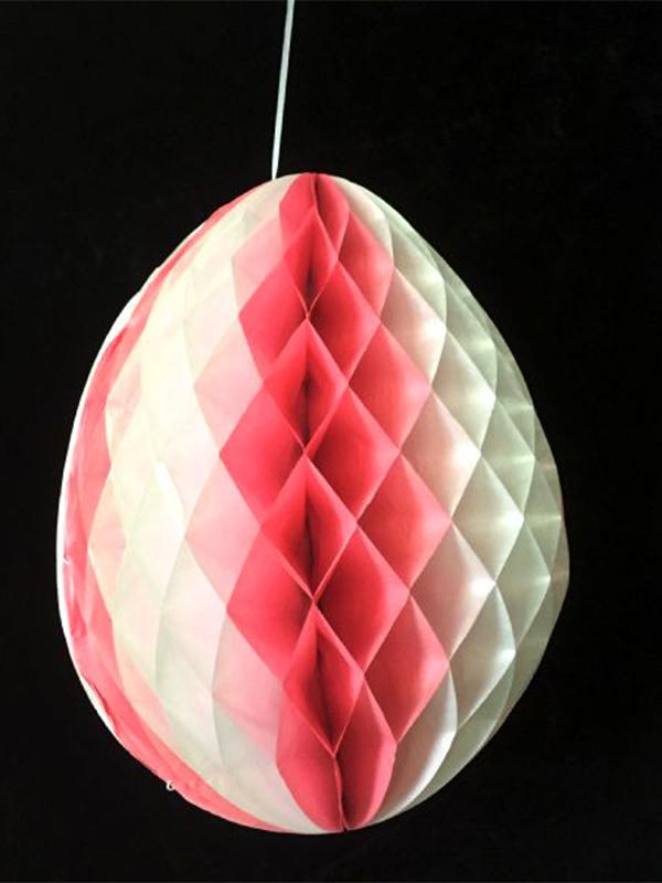 Pink & White Tissue Egg Decoration