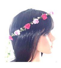 Flower Headband Garland - Pink