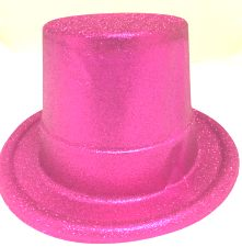 Glitter Top Hat - Pink