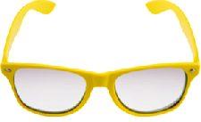 Yellow Neon Clear Lense Wayfarer Glasses