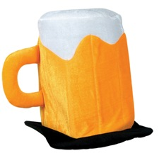 Plush Felt Beer Hat