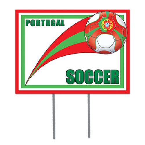 Portugal Soccer Garden Sign