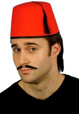 Fez Red Felt Hat With Tassel