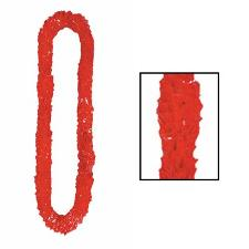 Soft-Twist Poly Leis - Red (1)