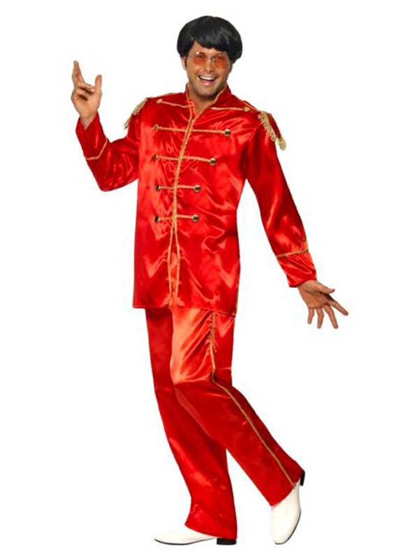 Sgt. Pepper Costume Red With Gold Trim, Medium