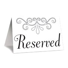 Reserved Table Cards