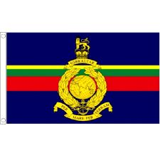 Royal Marine Flag 5ft x 3ft With Eyelets For Hanging