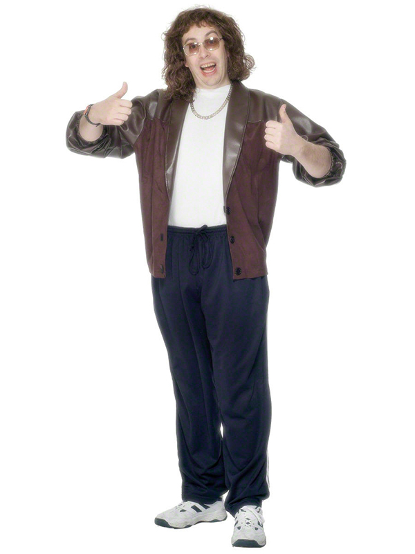 Little Britain Costume Lou Jacket Leather Look 80s