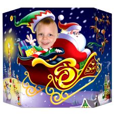 Santa & Elf Photo Prop