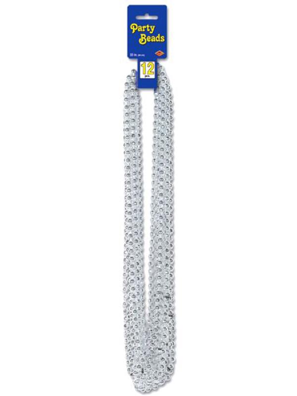 Metallic Silver Party Beads