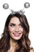 Silver Glitter Head Bopper with Tinsel Trim