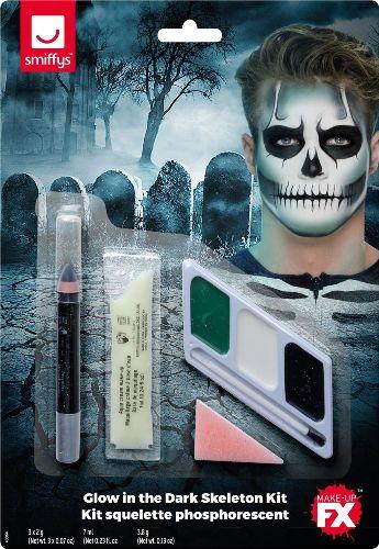 Glow in the Dark Skeleton Make-Up Kit
