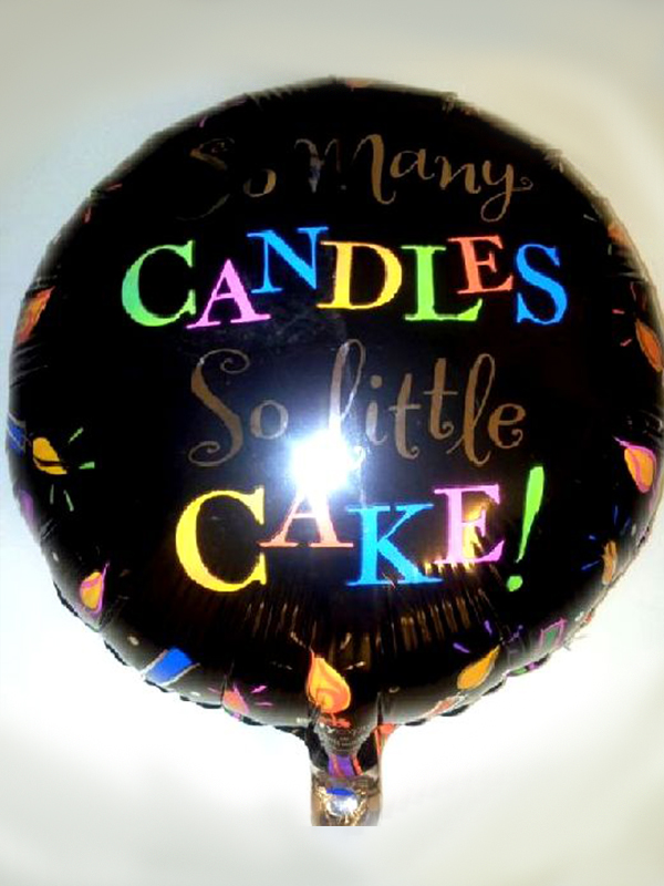 Foil Balloon SO MANY CANDLES SO LITTLE CAKE Birthday