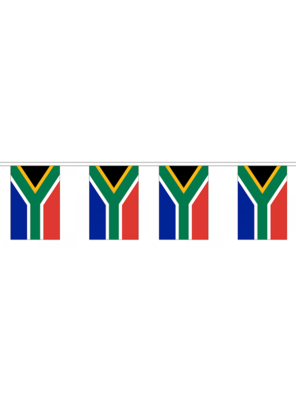 South Africa Flag Bunting Rectangular Flags