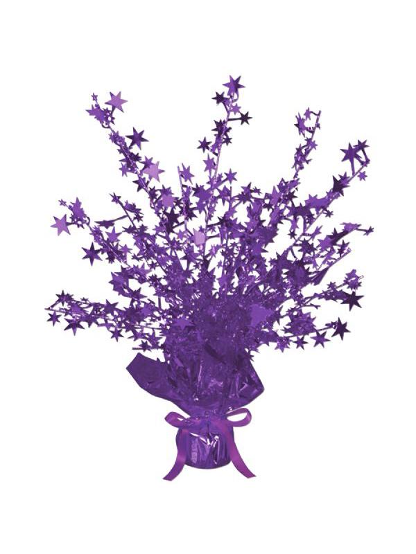 Star Gleam 'N' Burst Centrepiece Purple (Quantity 1)