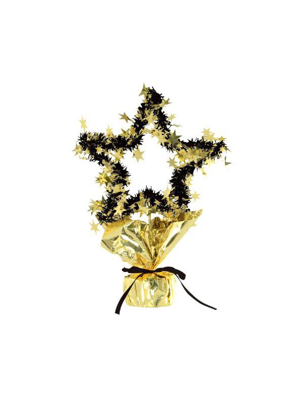 Star Gleam 'N' Shape Centrepiece Gold And Black (Quantity 1)