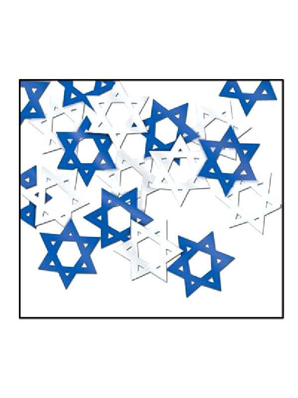 Star of David Table Confetti