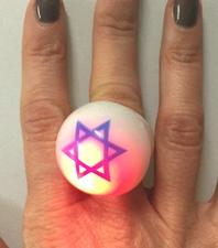 Star of David Flashing Bubble Ring