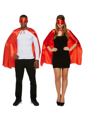 Super Hero Cape and Mask Set - Red