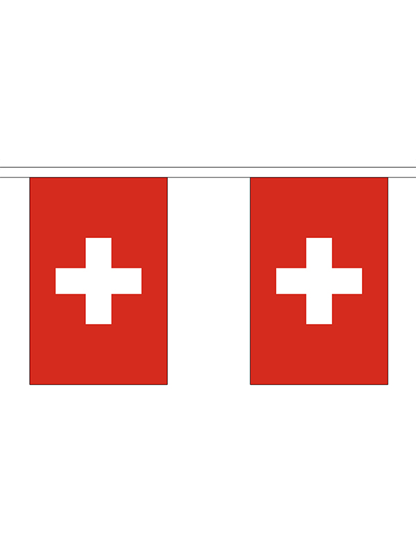 Switzerland Bunting 6m 20 Flag