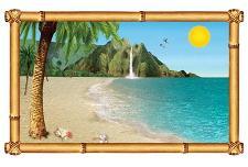 Tropical Beach Window Prop Insta-View