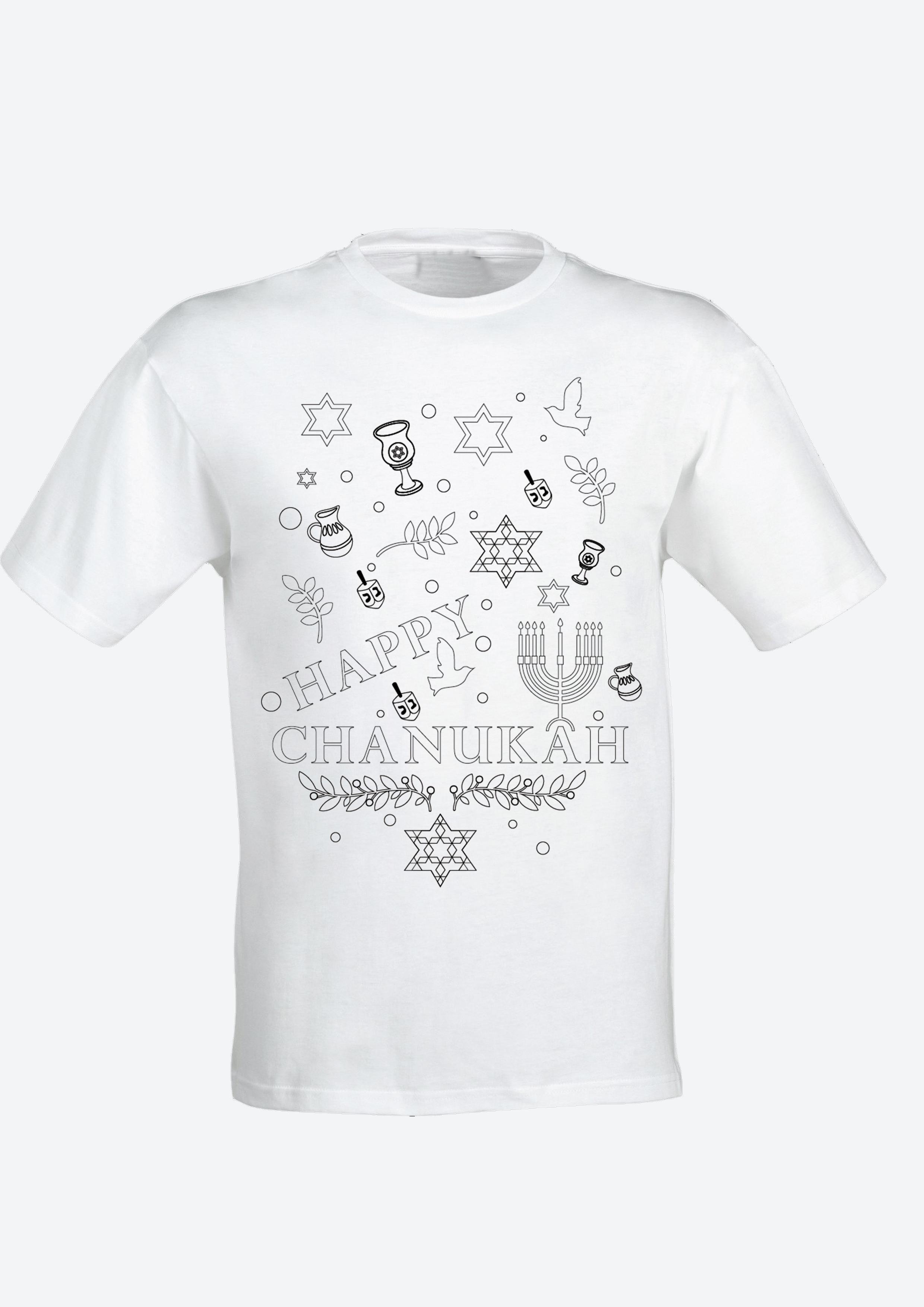 Colour Yourself Happy Chanukah T-Shirt -Childrens