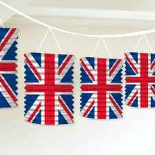 Union Jack Paper Lantern Garland Decoration