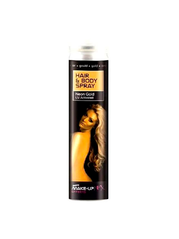 UV Hair & Body Spray - Gold Glitter