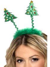 Christmas Tree Headbopper with Fur Trim