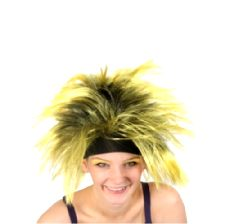 Yellow Wig with Headband