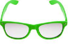 Green Neon Clear Lense Wayfarer Glasses