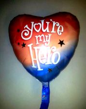 "Foil Balloon 'YOU'RE MY HERO' 18"" (Requires Helium)"
