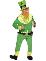 Leprechaun Costume, Adult, Hat, Beard (1)