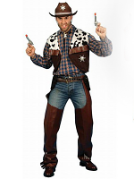 Cowboy Costume Includes Waistcoat And Chaps.