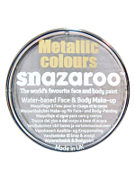 Snazaroo Face And Body Paint - Metallic Silver - Water Based 18ml
