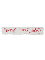 "Enter If You Dare! Fabric Banner 12"" x 6'"