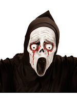 Bleeding Eyes Screaming Ghost Hooded Mask - Child