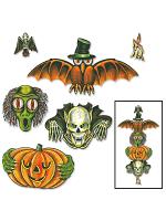 "Vintage Halloween Totem Pole Cutouts 6""-28"""