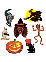 "Vintage Halloween Classic Cutouts 9½""-16"""