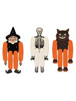 """Vintage Halloween Tissue Dancers 14"""""""