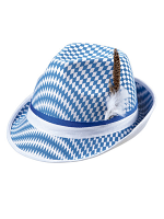 Bavarian Checked Oktoberfest Fedora Hat