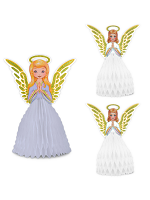 Vintage Christmas Angel Centrepiece Set
