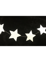 Silver Glittered Star Stringed Decoration