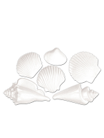 White Plastic Seashell Decoration