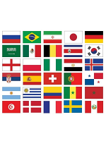 32 Nations Football World Cup 2018 Flag Pack (5ft x 3ft)