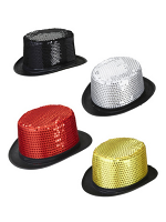 Sequin Top Hat - Assorted Colours