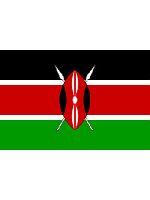 Kenya/Kenyan Flag 5ft x 3ft (100% Polyester) With Eyelets For Hanging
