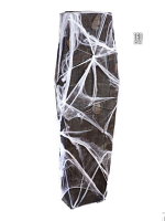 Coffin With Gauze And Spiderweb 160cm