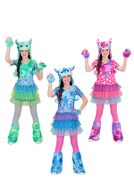 Monster Girl 3 Colours (Dress Hat Gloves Leg Warmer) Childrens