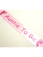 Auntie To Be Sash - Pink
